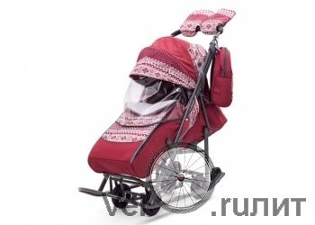 Санки-коляски Pikate Скандинавия «Серый»